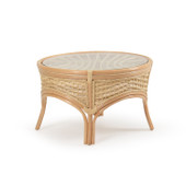 5527 Rattan Round Cocktail Table