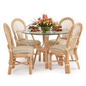 5500 Series 5 Piece Rattan Dining Set All Side Chairs