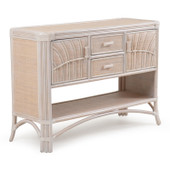 5504 Wicker and Rattan Console Table
