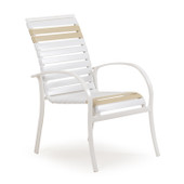 1610 Patio Dining Chair White Pebble