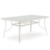 1460 Patio Dining Rectangle Table White