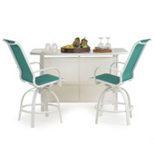 1400 Series Patio 3PC Bar Set Emerald