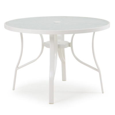 1440 Patio Dining Table White