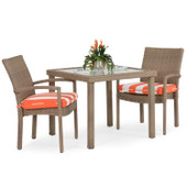 Stackable 3pc Patio Dining Set