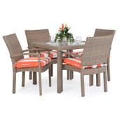 Stackable 5pc Patio Dining Set