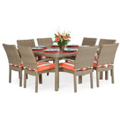 Stackable 9pc Patio Dining Set