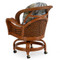 3560 Rattan Swivel Tilt Caster Dining Chair(alternate view)