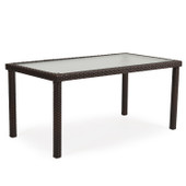 """62"""" X  34"""" Rectangle Dining Table  Tortoise  Shell"""