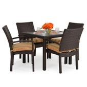 Stackable 5pc Patio Dining Set Tortoise Shell