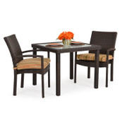 Stackable 3pc Patio Dining Set Tortoise Shell