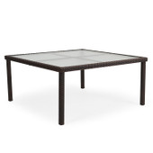 """Dining Table 62"""" Square Tortoise Shell 6662"""