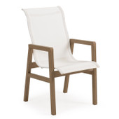 Outdoor Sling Dining Chair Weathered Teak 5230