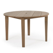 Round Dining Table Weathered Teak 5248