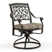 721731 Cast Aluminum Swivel Tilt Dining Chair. (alternate view)