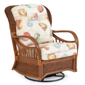 5595 High Back Rattan Swivel Glider Pecan Glaze