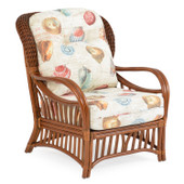 5505 High Back Rattan Chair Pecan Glaze
