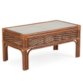 5529 Rattan Cocktail Table Pecan Glaze
