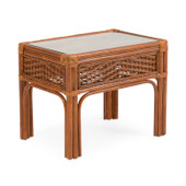 5520 Rattan End Table Pecan Glaze
