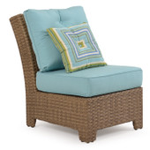 6301 Outdoor Armless Sectional Chair Oyster Grey