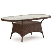 6072 Patio Oval Table Tortoise Shell