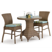 6000 Series All Weather Wicker 3pc Counter Set Oyster Grey