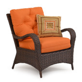 6001 Outdoor Woven Club Chair Tortoise Shell