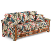 7265 Queen Sleeper Sofa Pecan Glaze Finish