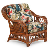 4401 Rattan Lounge Chair Pecan Glaze Satin