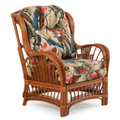 4405 Rattan High Back Chair Pecan Glaze Satin