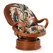 241 Rattan Swivel Rocker Pecan Glaze Satin