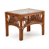 4420 Rattan End Table Pecan Glaze Satin