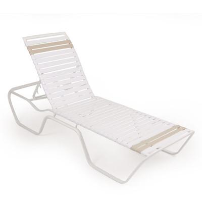 1609 Patio Chaise Lounge White Pebble