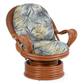 3541 Rattan Swivel Rocker