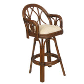 686 Rattan Bar or Counter Height Swivel Stool