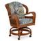 3560 Rattan Swivel Tilt Caster Dining Chair