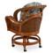 3560 Rattan Swivel Tilt Caster Dining Chair (alternate view)