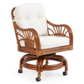 5500 Rattan Swivel Caster Dining Chair