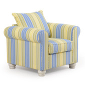 740C Striped Occasional Chair