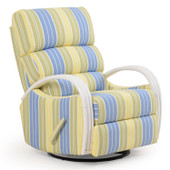 883SGR Striped Swivel Glider Recliner