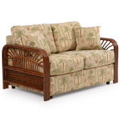 983L Loose Back Loveseat Pecan Glaze