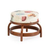 5540 Universal Round Ottoman Pecan Glaze