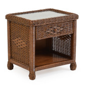 3731 Wicker 1 Drawer Nightstand Coffee Bean