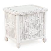 3702 Wicker 2 Drawer Nightstand Cotton