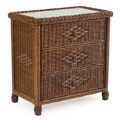 3703 Wicker 3 Drawer Chest Coffee Bean