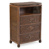 3733 Wicker Swivel TV Chest