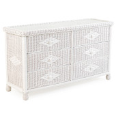 3306 Wicker 6 Drawer Dresser in Cotton