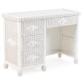 3797 Wicker 4 Drawer Desk Cotton