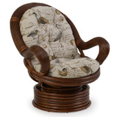 5441 Rattan Swivel Rocker