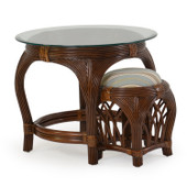 5400 Series Round End Table With Stool