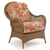 6701 Outdoor Wicker Lounge Chair in Driftwood Finish